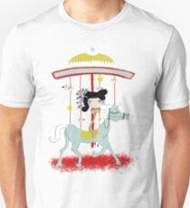 Carousel colorful whimsical magic horse ride doll tshirt Unisex T-Shirt