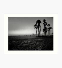 Santa Monica Beach Kunstdruck