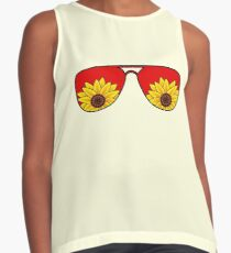 Summer Sunglasses Sunflower Contrast Tank