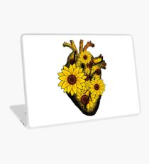 Summer Sunflower Heart  Laptop Skin