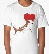 I Love Sharks Cute Novelty  Week of the Shark Gift Idea For Shark Lovers Graphic Hammerhead Shark Long T-Shirt
