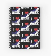 I Love The Week Of Sharks Cute Novelty Gift Idea For Shark Lovers Graphic Shark Design Spiral Notebook