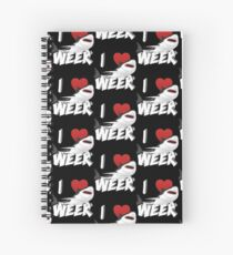 I Love The Week Of Sharks Epic Novelty Gift Idea For Shark Lovers Graphic Shark Bite Spiral Notebook