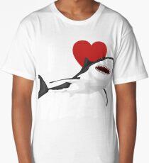 I Love The Week Of Sharks Epic Novelty Gift Idea For Shark Lovers Graphic Shark Bite Long T-Shirt