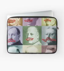 Mustaches Lover Retro Photo Funny Laptop Sleeve