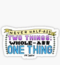 Ron Swanson Parks and Recreation Quote Sticker