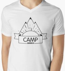 Cool Camp Design Men's V-Neck T-Shirt