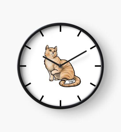 Big Tabby Cat Clock