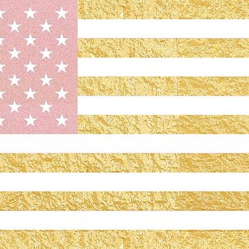 USA Flag | Gold and Rose Gold by willdunphey