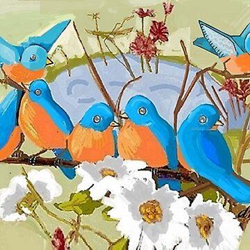 Bluebirds' Fountain by dorcas13