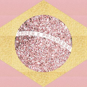 Brazil Flag | Gold and Rose Gold by willdunphey