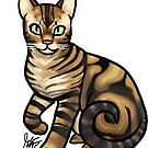 Bengal Cat - Striped by Jennifer Stolzer