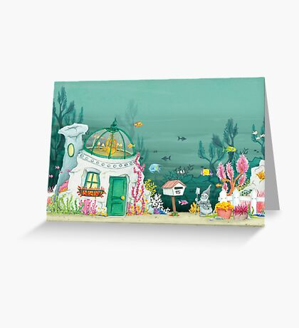 House in the sea Greeting Card