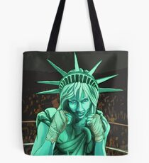 Lady Liberty Fighting for the People Tote Bag