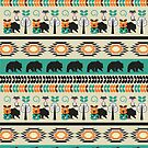 Native spirit with foxes and bears by cocodes