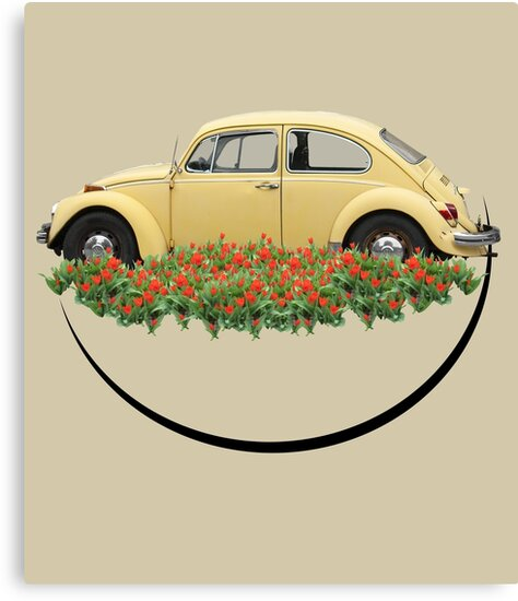 Vintage Yellow Bug  by SophieDePablo