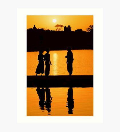 Sunset at Pushkar Lake #2 Art Print