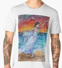 Seascape with Ballerina Men's Premium T-Shirt