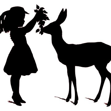 The girl and the doe by NatureShapes