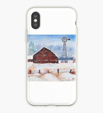 Blizzard at the farm iPhone Case