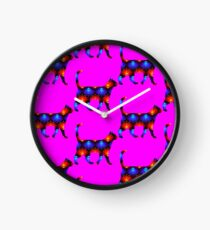 Blue and red spiral cat2 Clock