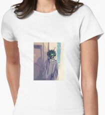 Cyberpunk Goggles Girl Women's Fitted T-Shirt