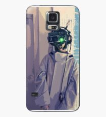Cyberpunk Goggles Girl Case/Skin for Samsung Galaxy
