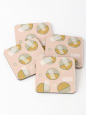 Abstract Composition 09 Coasters