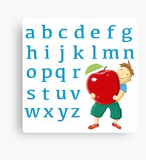 Now I know my abc! Canvas Print
