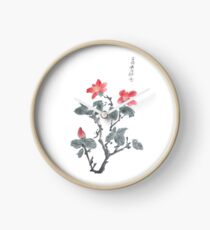 red flowers Clock