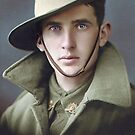 Unidentified soldier of the First AIF, World War I. by Marina Amaral