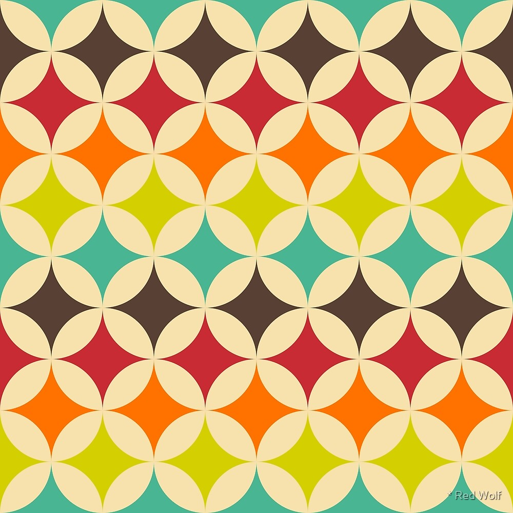 Geometric Pattern: Circle Nested: Rainbow by * Red Wolf