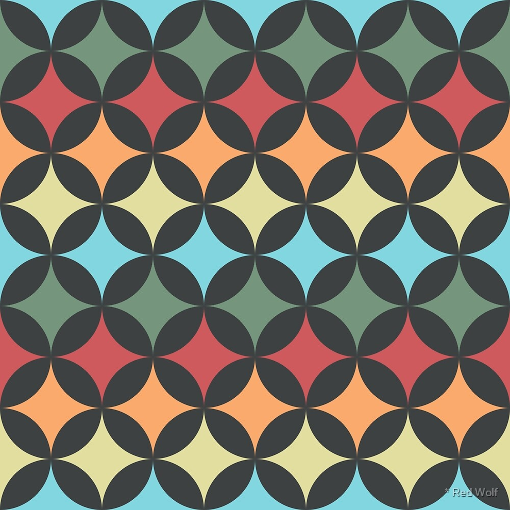 Geometric Pattern: Circle Nested: Ornament by * Red Wolf