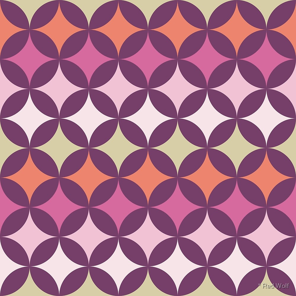 Geometric Pattern: Circle Nested: Orchid by * Red Wolf