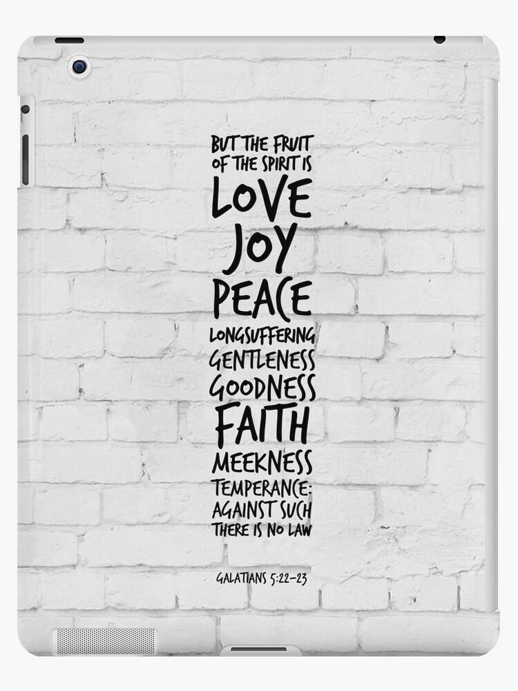 'Fruits of the spirit - Galatians 5:22-23 KJV - Bible Verses' iPad  Case/Skin by inspirational4u