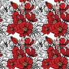 Pretty Red Florals by SoNifty