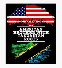 American Brother With Tanzanian Roots - Gift For Tanzanian Brother From Brother Or Sister Photographic Print