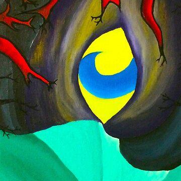 Blue yellow eye by LittleRedChucks