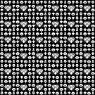 Majora Muster - Classic Black & White von B-Shirts