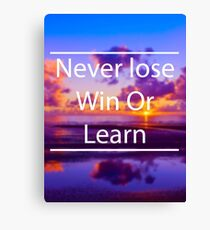 Never lose Canvas Print