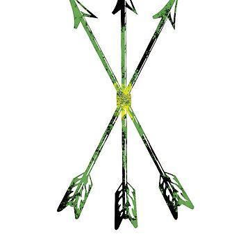 Arrows green-yellow-black, Scoia'tael, Scoiatael, arrows by Tanastish