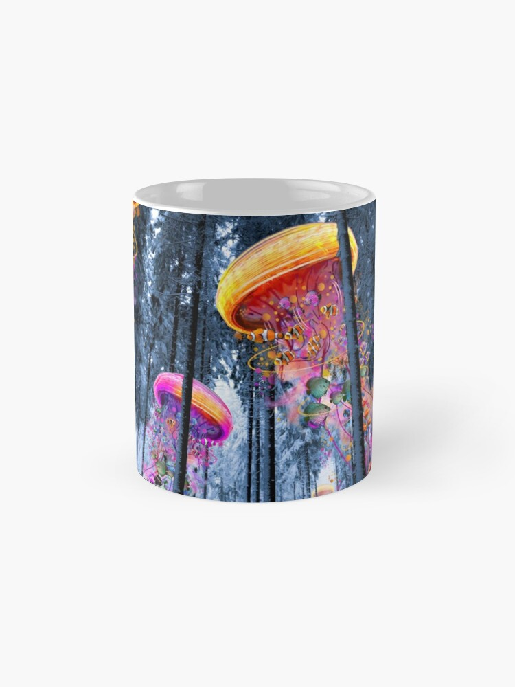 Alternate view of New Winter Forest of Electric Jellyfish Worlds  Mugs