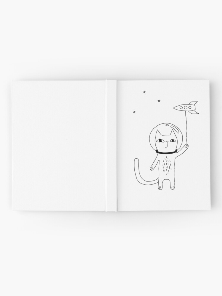 Alternate view of Space Cat Hardcover Journal