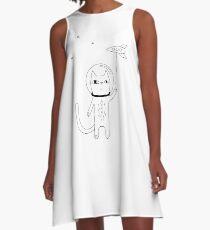 Space Cat A-Line Dress