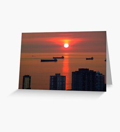English Bay, Vancouver Greeting Card