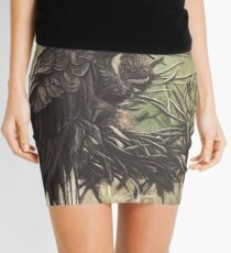 Yellow Tailed Black Cockatoo Mini Skirt