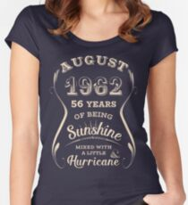 August 1962 Sunshine - 56 Years of Being Awesome Women's Fitted Scoop T-Shirt