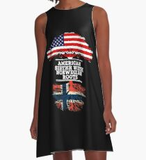 American Sister With Norwegian Roots - Gift For Norwegian Sister From Brother Or Sister A-Line Dress