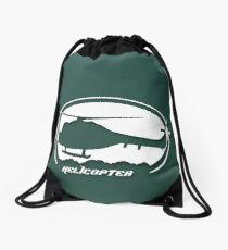 Helicopter - Helicopter Drawstring Bag