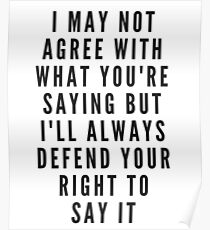 Defend Your Right to Free Speech 2 Poster